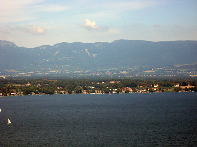 From left to right--Geneva and the Rhone River--panorama #9