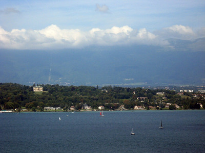 From left to right--Geneva and the Rhone River--panorama #6