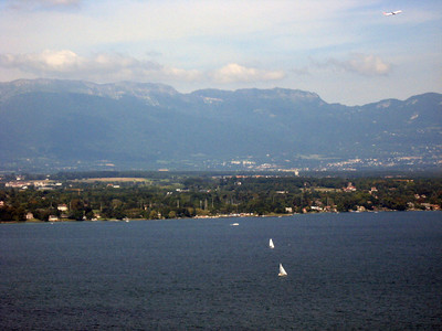 From left to right--Geneva and the Rhone River--panorama #8