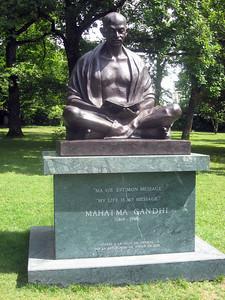 ... Mahatma Gandhi contemplates