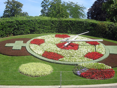 Also in the English Garden, Geneva's floral clock, the largest of its kind in the world