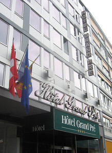 My home away from home in Geneva--the Hotel Grand Pre