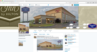 Hampton Inn of Uniontown Twitter Home Page