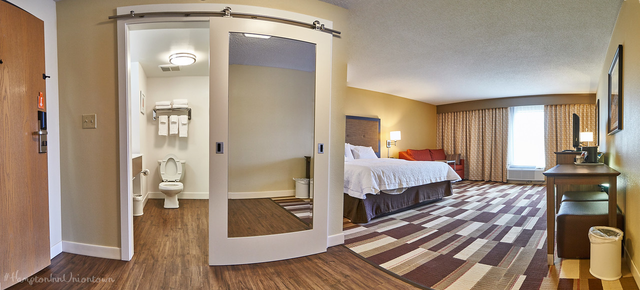 Hampton Inn of Uniontown Room 302, King Study with Sofa Bed Hotel Room
