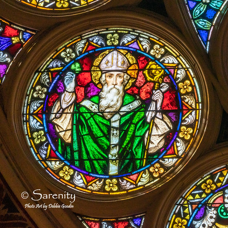 South Wall Rose Detail - Saint Patrick