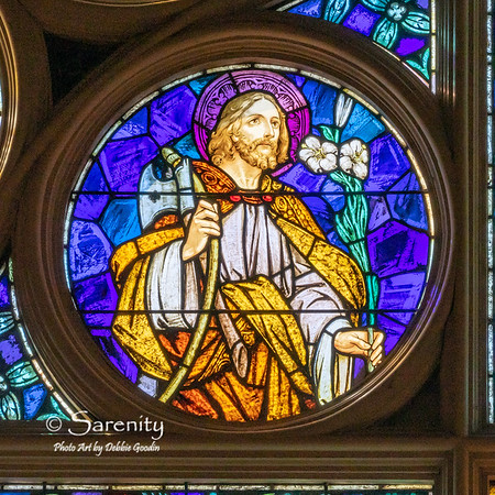 South Wall Rose Detail - Saint Joseph the foster father of Jesus