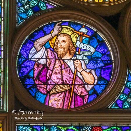 South Rose Detail - Saint John the Baptist