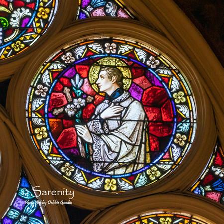 North Rose Detail - Saint Ignatius Loyola