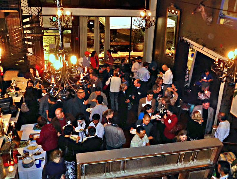 Holiday party from above 2