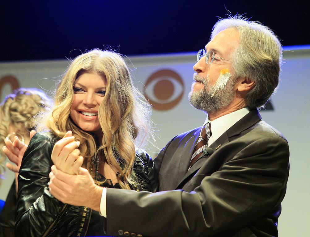 Fergie (L) and Neil Portnow announce the 50th Annual Grammy Awards nominations at The Henry Ford Musicbox Theater  in Los Angeles, California, December 06, 2007. <br /> (Pictured: Fergie, Neil Portnow)<br /> Photo by Katy Winn/ Elevation Photos