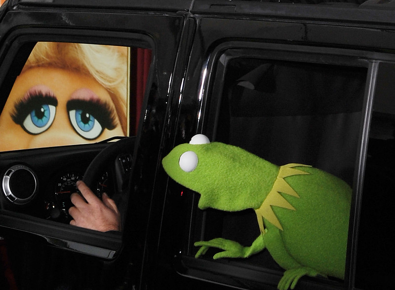Kermit The Frog arrives at the premiere of  The Muppets at El Capitan Theater, Saturday, Nov. 12, 2011, in Los Angeles.  The Muppets opens in theaters Nov. 23, 2011. (AP Photo/Katy Winn)