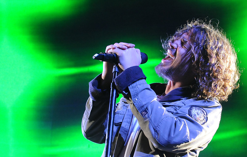 Chris Cornell of Soundgarden performs live at the KROQ Weenie Roast Y Fiesta, Sat, May 5, 2012, at The Verizon Ampitheater in Irvine, Calif. KROQ Weenie Roast is a multi-artist music concert, presented annually.(AP Photo/Katy Winn)