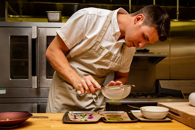 Chef Niels Brisbane of Canlis at The Bread Lab in Skagit Valley, WA