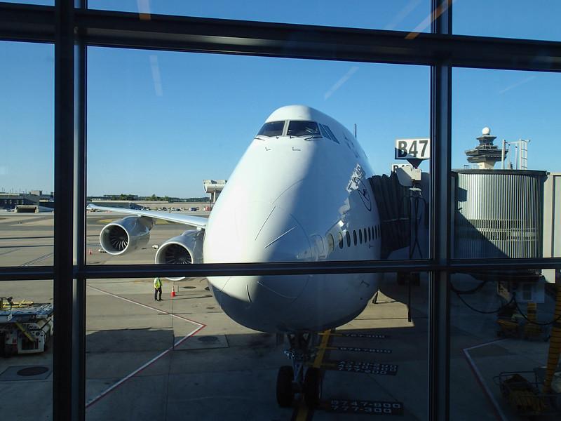 September 23, 2013.  Awaiting departure from Dulles on a big bird.