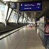 Waiting in the Frankfurt air-rail station for my train to Weimar via Erfurt.