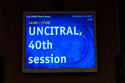 UNCITRAL - June/July '07 - Vienna