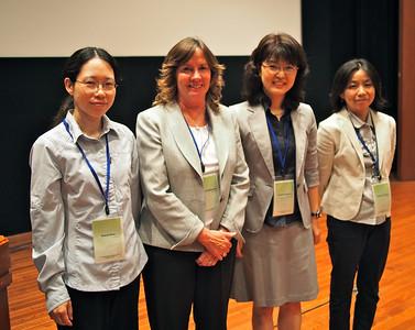 Women presenters at the PMP Workshop: Prof. Xi Chen, UC Davis; Prof. Karen McDonald, UC Davis, Dr. Noriho, Fukuzawa, AIST and Dr. Noriko Tabayashi, AIST.