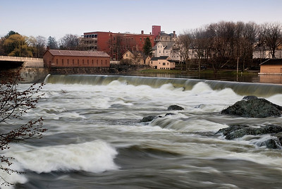Winter Runoff - Merrimack River, Lowell, MA
