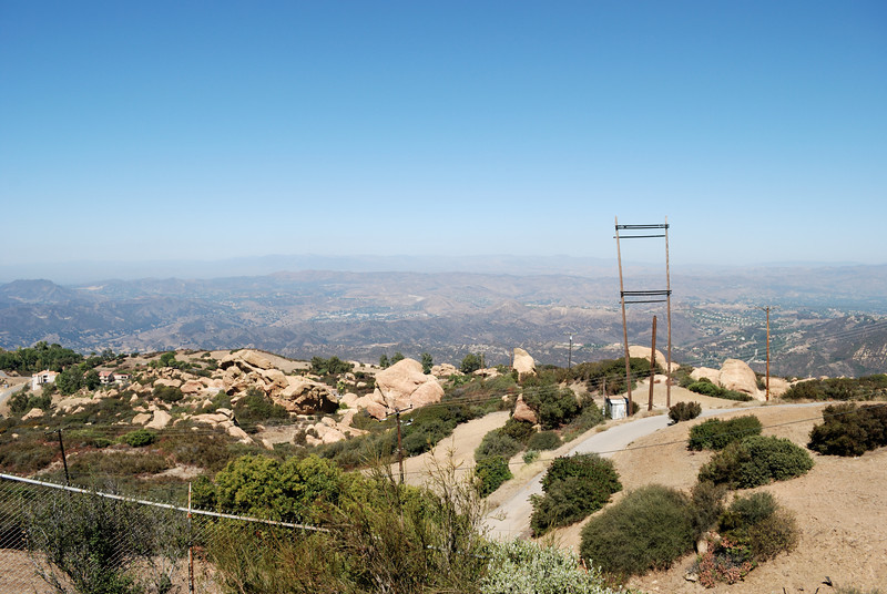 The view north towards Calabasas