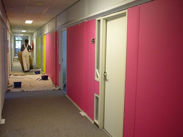 A lovely shade of pink for the management hallway, in case their own glasses don't work correctly :-)