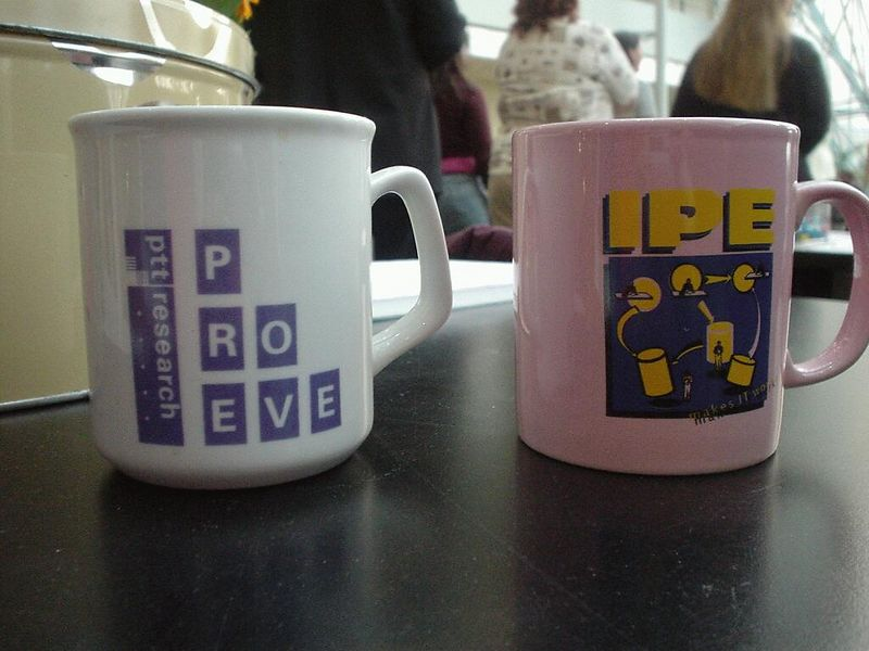 Two of many departemental or specific project mugs there were created over the years