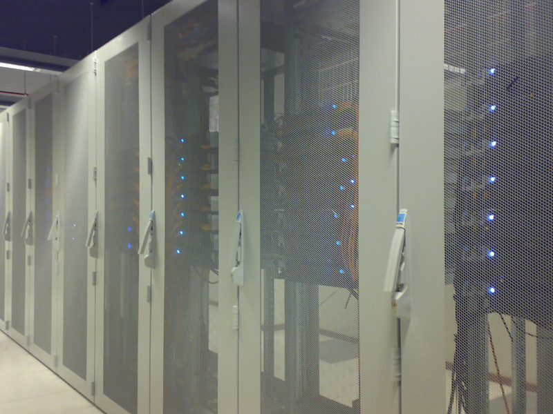 Racks of servers humming along peacefully