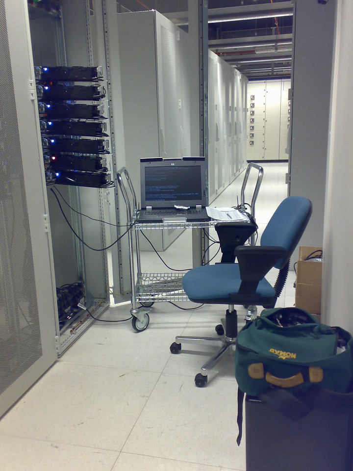 "My ""office"" in the data center"
