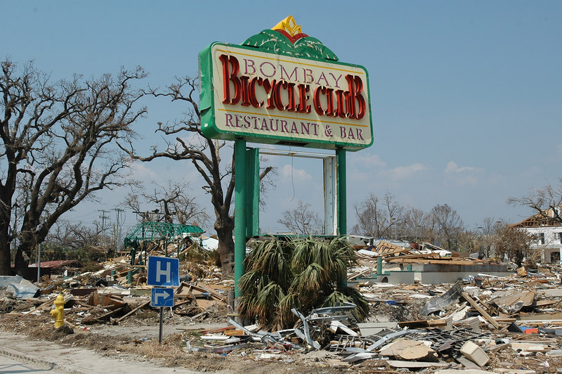The Bombay Bicycle Club Restaurant on U.S. 90 near the Grand Casino in Biloxi was one of many businesses along the beach wiped out by Hurricane Katrina.