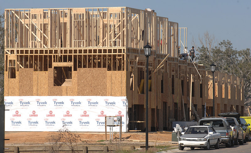 This housing complex in Gulfport is one of the few construction projects along U.S. 90 west of the U.S. 49 intersection.
