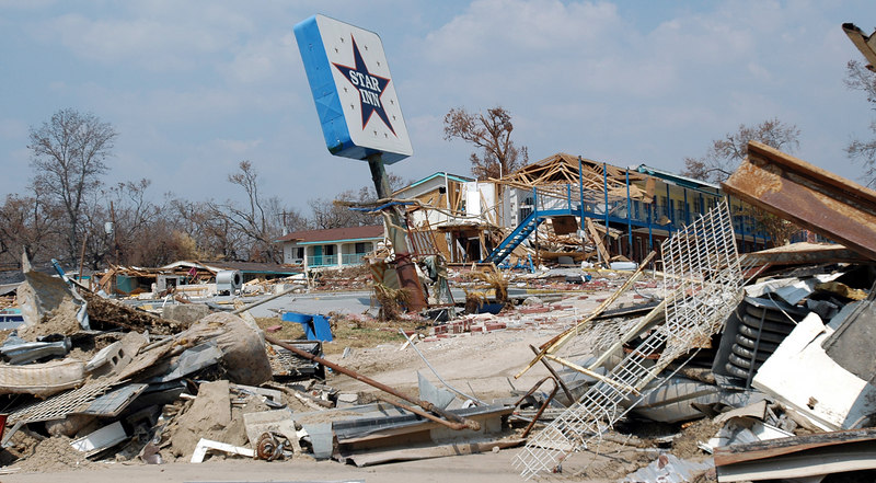 The Star Inn in Biloxi is one of dozens of hotels destroyed by Hurricane Katrina along U.S. 90 from Bay St. Louis to Ocean Springs.