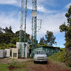 The overall Time Warner site. Behind the camera is Hilo, <br /> 20 miles down the mountain.