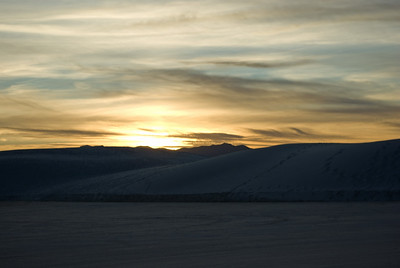 White Sands, NM - Sunset
