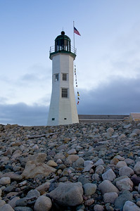 Scituate LIghthouse, Plymouth, Maine, USA