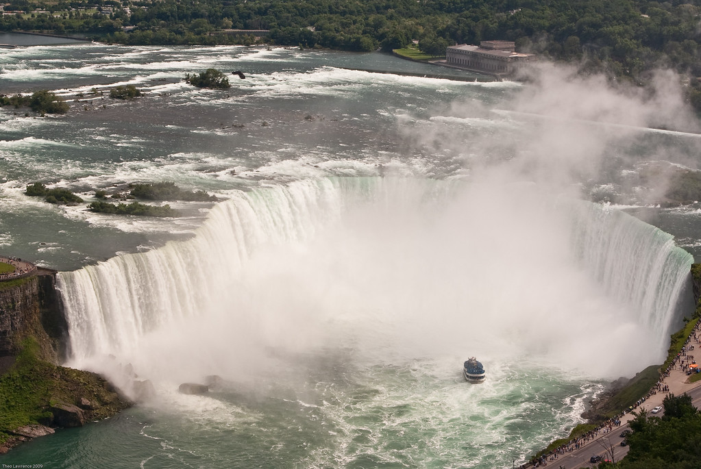 Canadian Falls with Maid of the Mist