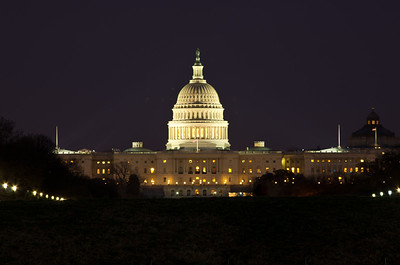 U. S. Capitol at Night from Washington Monument