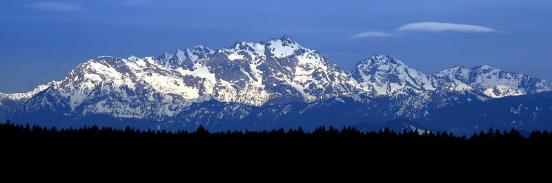 Olympic Mountains above Silverdale Washington