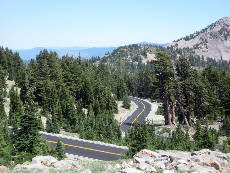 A looping segment of the Main Park Road, built in the 1930s and maintained initially by the CCC, the Civilian Conservation Corps (the original stimulus money!).