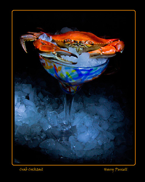 "Light painting ""Crab Cocktail"""