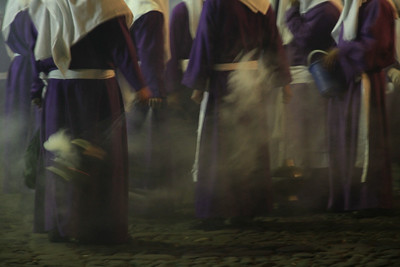 Lent processioners move through the streets of Antigua, Guatemala in celebration of Holy Week on March 24, 2013. Photo by Scott Umstattd