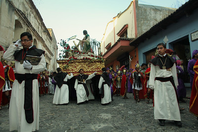 Parade goers march through the streets of Antigua, Guatemala on February 17, 2013 in celebration of Lent. Photo by Scott Umstattd