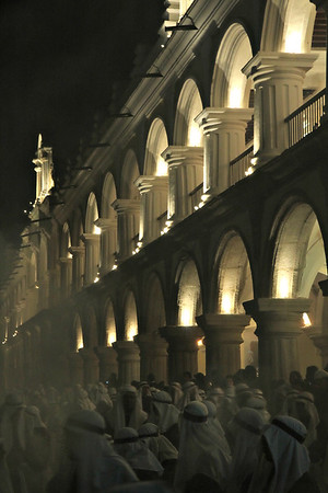 A nighttime Lent procession at Central Park in Antigua, Guatemala on March 24, 2013. Photo by Scott Umstattd