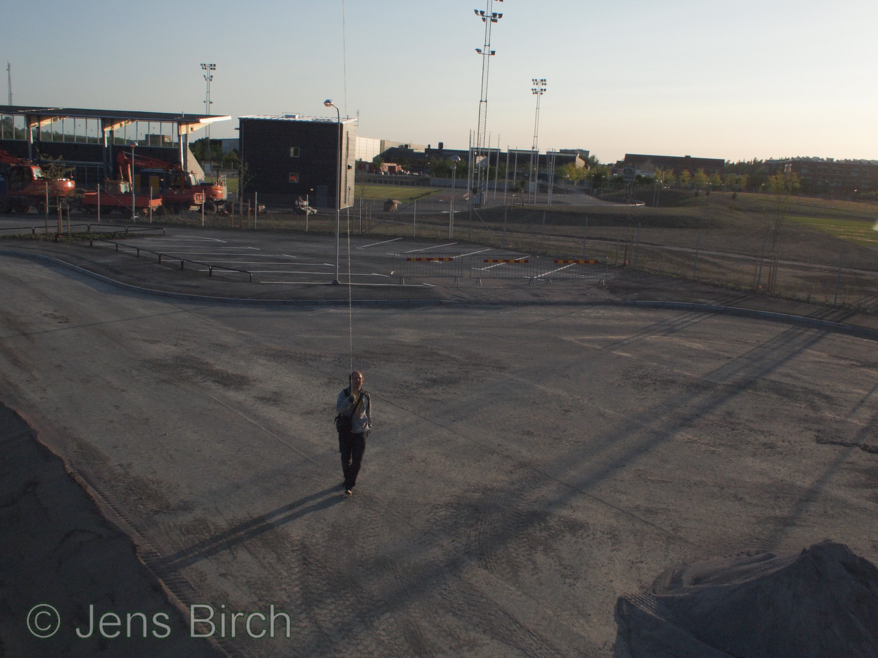 First KAP session at Campus Valla of Linköping University. Here: me with the new track field/ice skating track in the background.