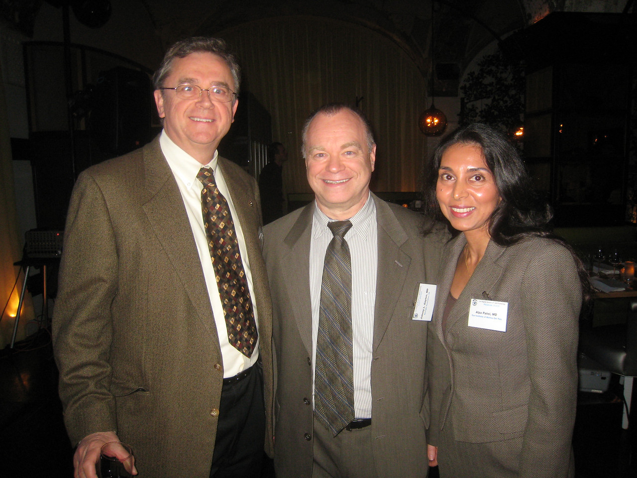 Jim Boyce, Speaker Johnny Gayton, Program Chair Alpa Patel