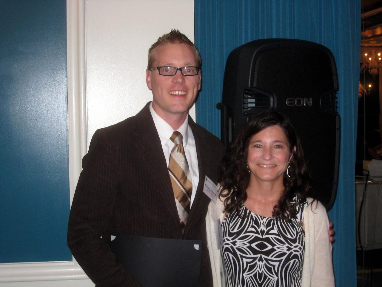 1402 Nesburn Award Winner Duncan Johnson with Kristen Nesburn