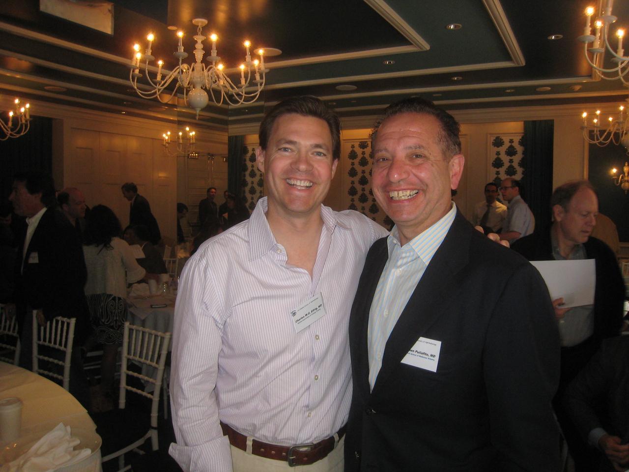 Charles Eifrig & the Dean of the USC Medical School, Carmen Puliafito