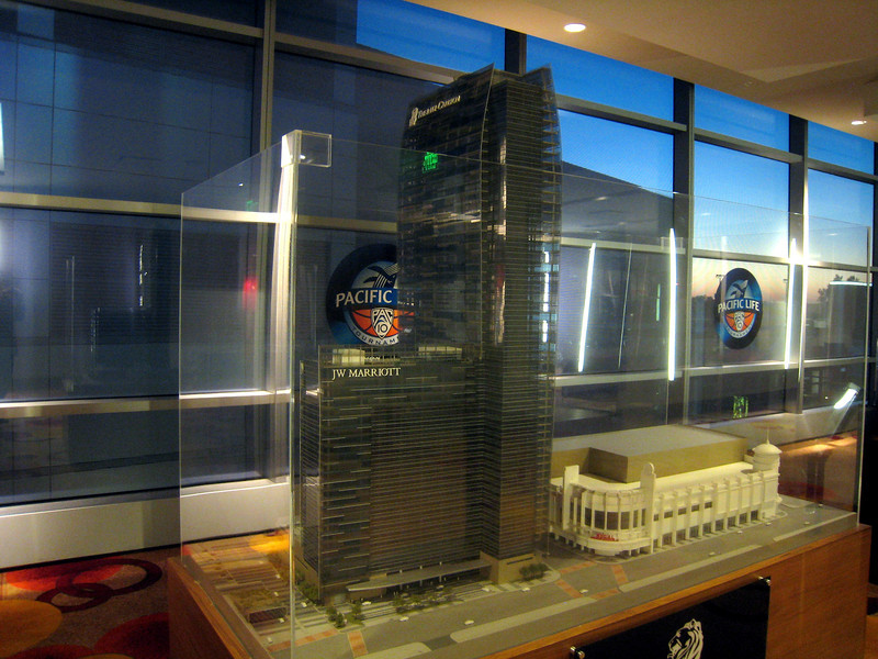 1601 Scale model of  meeting location at Marriott Hotel