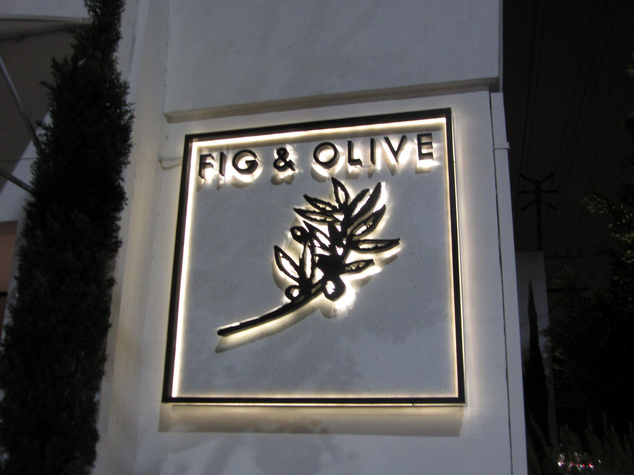 Meeting location:  Fig & Olive on Melrose Place.
