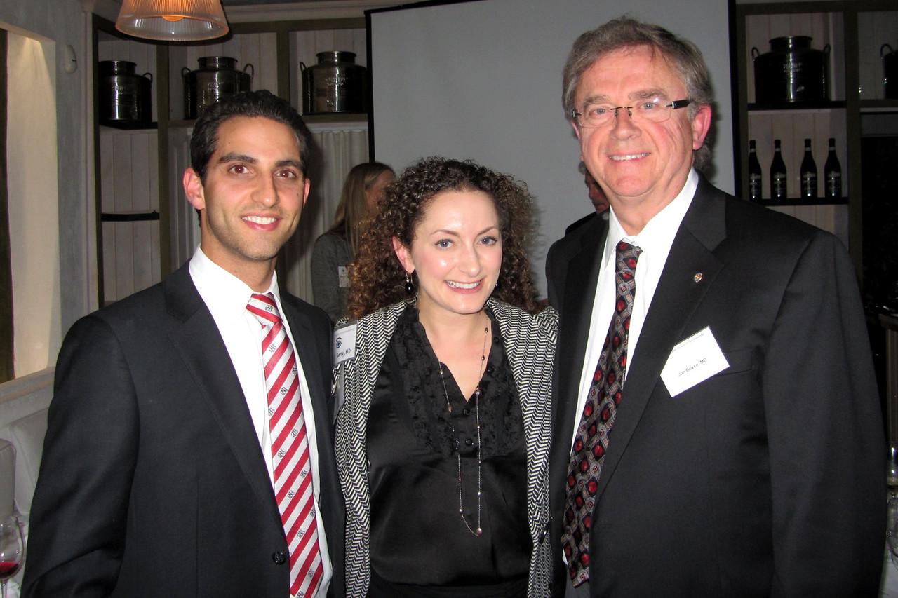 David Samimi, USC Chief Resident Jesse Berry, Jim Boyce