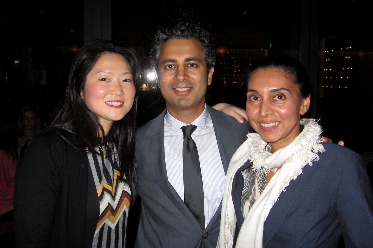 Program Chair Catherine Hwang, Guest Speaker Tanuj Nakra, and Board member Alpa Patel