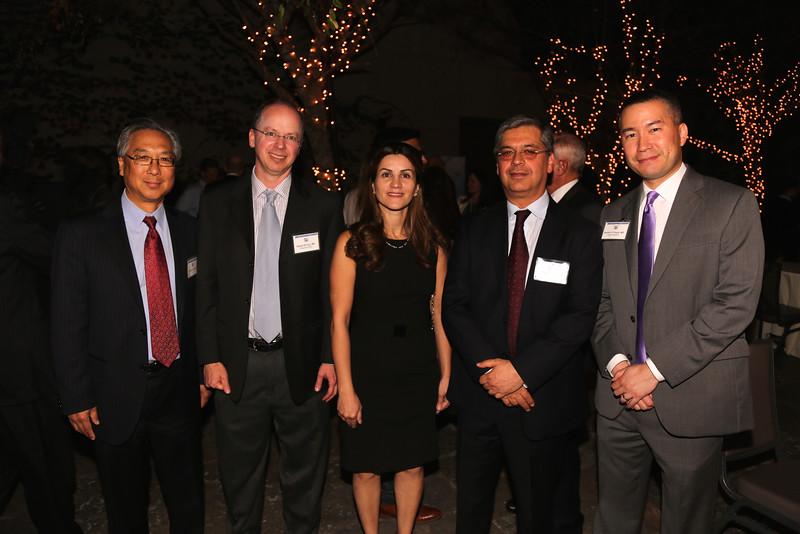 Tom Chu, Daniel Krivoy, Nafiseh Hashemi, President Homayoun Tabandeh, Guest Speaker Daniel Chang (Bakersfield)